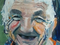 Painting of a joyful old woman from Transylvania by Adela Tavares