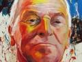 Portrait of the artist Romul Nutiu, acrylic on canvas by Adela Tavares