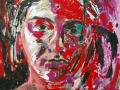 Self -portrait sadness by Adela Tavares